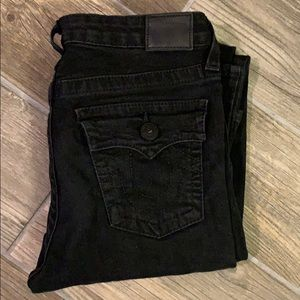 True Religion Boys Sz 16 Superfly Geno Black Jean